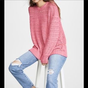 Anine Bing Pink Juliet Sweater